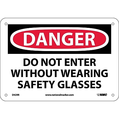 Danger, Do Not Enter Without Wearing Safety. . ., 7X10, Rigid Plastic