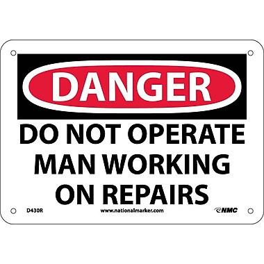 Danger, Do Not Operate Man Working On Repair..., 7