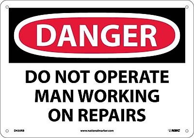 Danger, Do Not Operate Man Working On Repair. . ., 10X14, Rigid Plastic