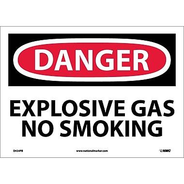 Danger, Explosive Gas No Smoking, 10