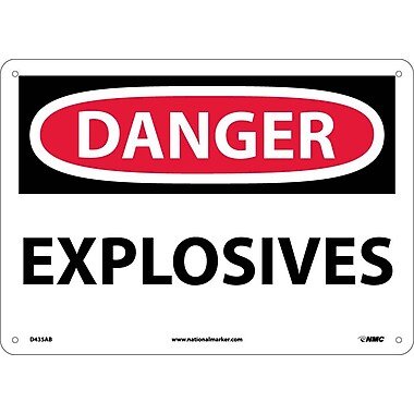 Danger, Explosives, 10X14, .040 Aluminum