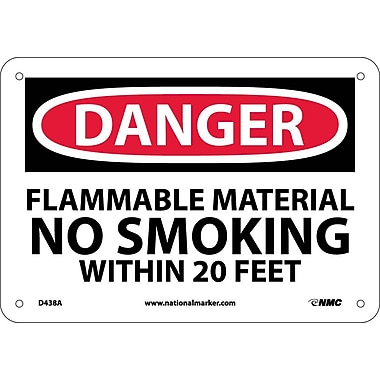 Danger, Flammable Material No Smoking Within 20 Feet, 7