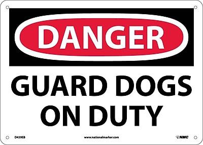 Danger, Guard Dogs On Duty, 10X14, Fiberglass