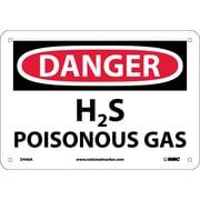 Danger, H2S Poisonous Gas, 7X10, .040 Aluminum