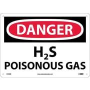 Danger, H2S Poisonous Gas, 10X14, Fiberglass