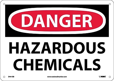 Danger, Hazardous Chemicals, 10X14, Fiberglass