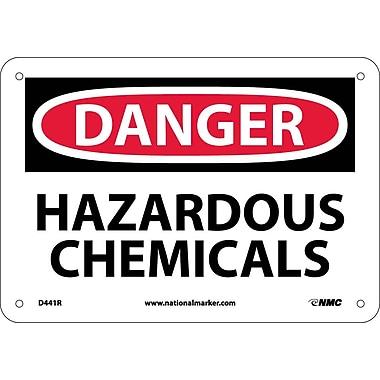 Danger, Hazardous Chemicals, 7X10, Rigid Plastic