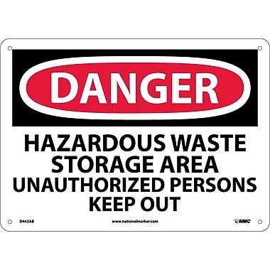 Danger, Hazardous Waste Storage Area. . ., 10X14, .040 Aluminum