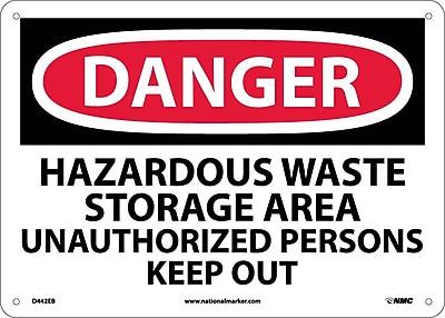 Danger, Hazardous Waste Storage Area . . ., 10X14, Fiberglass