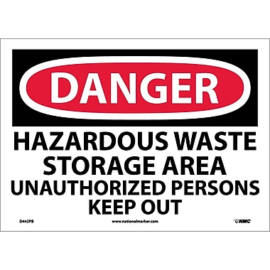 Danger, Hazardous Waste Storage Area Unauthorized..., 10
