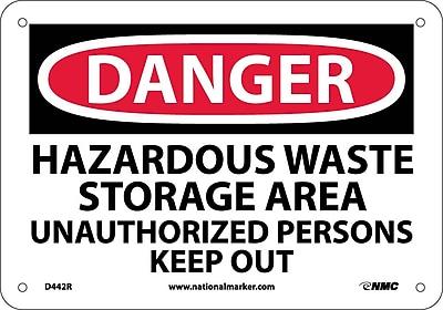 Danger, Hazardous Waste Storage Area Unauthorized. . ., 7X10, Rigid Plastic