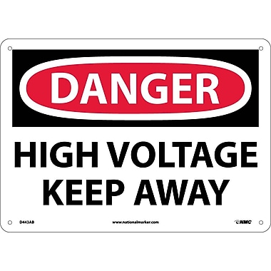 Danger, High Voltage Keep Away, 10X14, .040 Aluminum