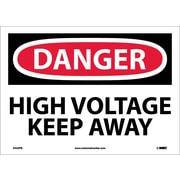 Danger, High Voltage Keep Away, 10X14, Adhesive Vinyl