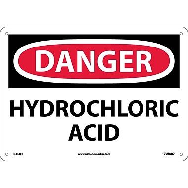 Danger, Hydrochloric Acid 10X14, .040 Aluminum