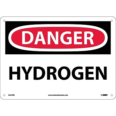 Danger, Hydrogen, 10X14, Rigid Plastic