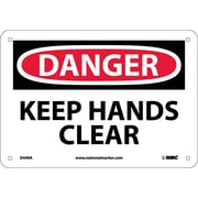 Danger, Keep Hands Clear, 7X10, .040 Aluminum