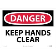 Danger, Keep Hands Clear, 10X14, Adhesive Vinyl
