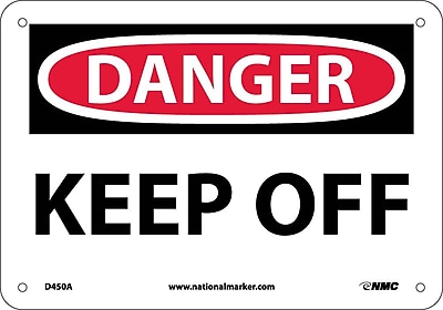 Danger, Keep Off, 7X10, .040 Aluminum