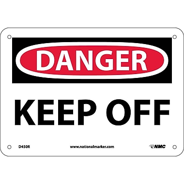 Danger, Keep Off, 7X10, Rigid Plastic