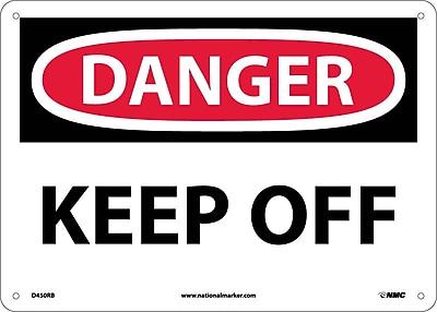 Danger, Keep Off, 10X14, Rigid Plastic