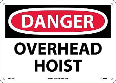 Danger, Overhead Hoist, 10X14, Fiberglass