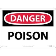 Danger, Poison, 10X14, .040 Aluminum