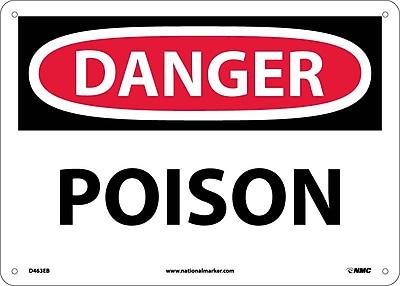 Danger, Poison, 10X14, Fiberglass