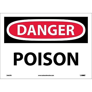 Danger, Poison, 10X14, Adhesive Vinyl