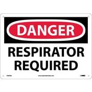 Danger, Respirator Required, 10X14, .040 Aluminum