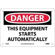 Danger, This Equipment Starts Automatically, 7X10, Rigid Plastic