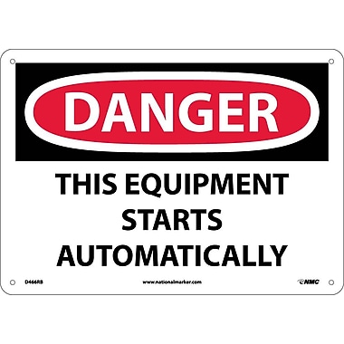 Danger, This Equipment Starts Automatically, 10