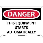 Danger, This Equipment Starts Automatically, 10X14, Rigid Plastic