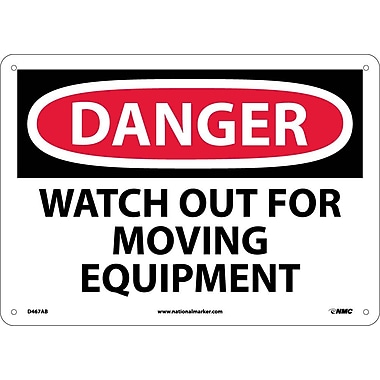 Danger, Watch Out For Moving Equipment, 10X14, .040 Aluminum