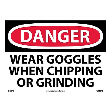 Danger, Wear Goggles When Chipping And Grinding, 10