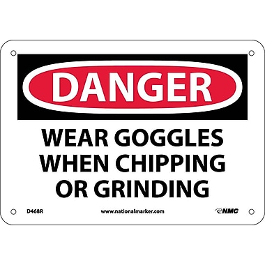 Danger, Wear Goggles When Chipping And Grinding, 7