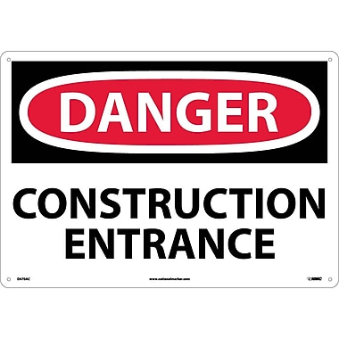 Danger, Construction Entrance, 14