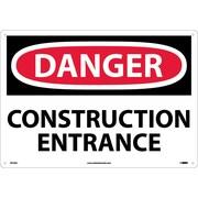 Danger, Construction Entrance, 14X20, .040 Aluminum