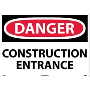 Danger, Construction Entrance, 20X28, .040 Aluminum