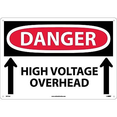 Danger, High Voltage Overhead Up Arrows, 14