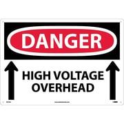 Danger, High Voltage Overhead (Up Arrows), 14X20, .040 Aluminum