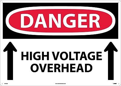Danger, High Voltage Overhead (Up Arrows), 20X28, .040 Aluminum