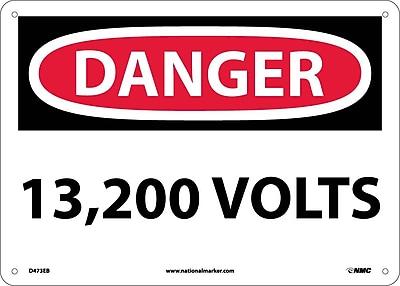 Danger, 13,200 Volts, 10X14, Fiberglass