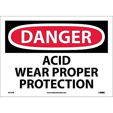 Danger, Acid Wear Proper Protection, 10