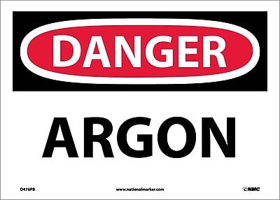 Danger, Argon, 10X14, Adhesive Vinyl