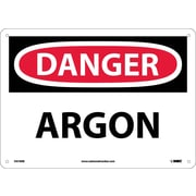 Danger, Argon, 10X14, Rigid Plastic