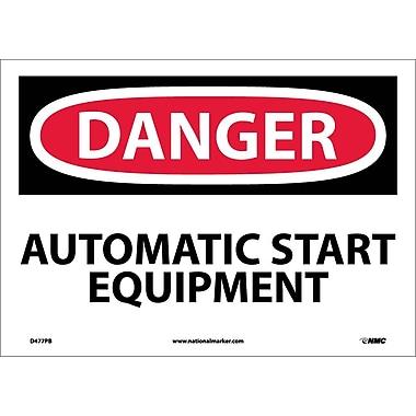 Danger, Automatic Start Equipment, 10