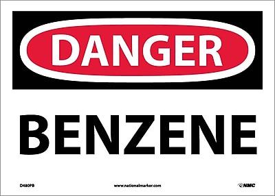 Danger, Benzene, 10X14, Adhesive Vinyl