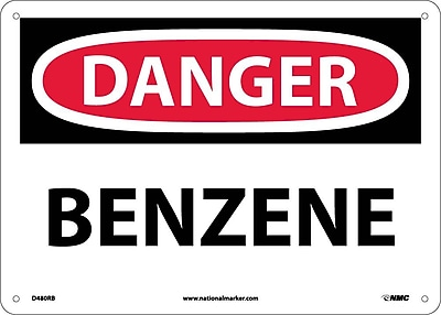 Danger, Benzene, 10X14, Rigid Plastic
