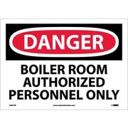 Danger, Boiler Room Authorized Personnel Only, 10X14, Adhesive Vinyl