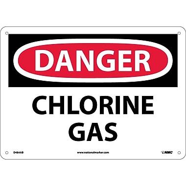 Danger, Chlorine Gas, 10X14, .040 Aluminum